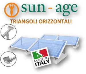 Picture of Triangoli per moduli orizzontali su tetto piano