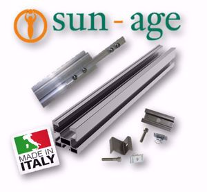 Picture of Sun Age | KIT FALDA con Profilo P202A02 Senza Staffe - No.4 Moduli