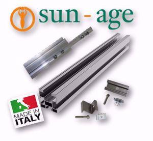 Picture of Sun Age | KIT FALDA con Profilo P202A02 Senza Staffe - No.5 Moduli