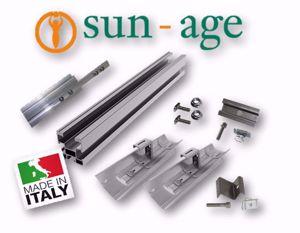 Picture of Sun Age   KIT FALDA con Profilo P202A02 e Coppo-Staffa K100D00 - No.7 Moduli