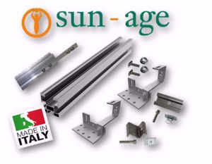Picture of Sun Age | KIT FALDA con Profilo P202A02 e Staffe K103D19 - No.5 Moduli