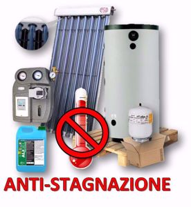 Picture of KIT RISCALDAMENTO | No.3 Collettori da 20 Tubi HP ccon Termo Accumulatore ACS Istantanea ELBI CQP 800