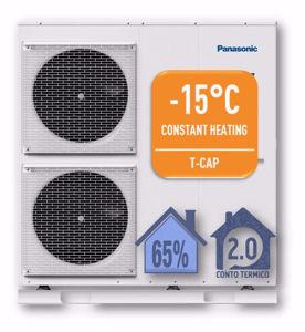 Picture of Panasonic | Aquarea T-CAP Monoblocco WH-MXC12H9E8 Generazione H - PdC Aria/Acqua Trifase da 12 kW