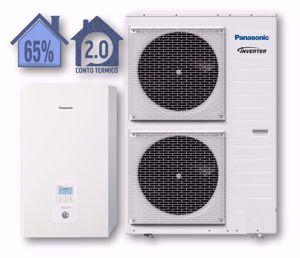 Picture of Panasonic | Aquarea Alta Connettività Split WH-SDC09H3E8+WH-UD09HE8 Generazione H - PdC Aria/Acqua Trifase da 9 kW