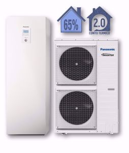 Picture of Panasonic | Aquarea Alta Connettività All in One WH-ADC0916H9E8+WH-UD09HE8 Generazione H - 1 Zona - PdC Aria/Acqua Trifase da 9 kW