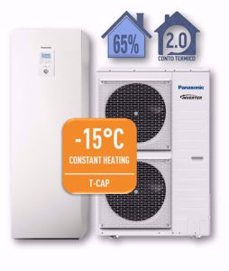 Picture of Panasonic | Aquarea T-CAP All in One WH-ADC0916H9E8+WH-UX09HE8 Generazione H - PdC Aria/Acqua Trifase da 9 kW