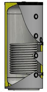 Picture of ELBI | PUFFER PPS1 300 Termo Accumulatore Inerziale per Riscaldamento da 300 litri con UNO Scambiatore
