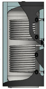 Picture of ELBI | PUFFER PPS2 600 Termo Accumulatore Inerziale per Riscaldamento da 600 litri con UNO Scambiatore
