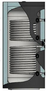 Picture of ELBI | PUFFER PPS2 1000 Termo Accumulatore Inerziale per Riscaldamento da 1.000 litri con UNO Scambiatore