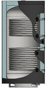 Picture of ELBI | PUFFER PPS2 1500 Termo Accumulatore Inerziale per Riscaldamento da 1500 litri con UNO Scambiatore