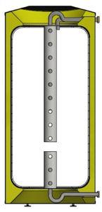 Picture of ELBI | Q-Puffer S 400 Termoaccumulatore Polivalente in Plastica per Riscaldamento da 400 litri con Stratificatore