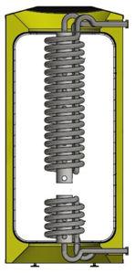 Picture of ELBI | Q-CQP 400 Termoaccumulatore Polivalente in Plastica per Riscaldamento da 400 litri con Stratificatore, Produzione ACS Istantanea e Scambiatore
