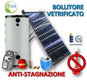Picture of ACS Circolazione Forzata | 15 Tubi Heat-Pipe Anti-stagnazione con Bollitore Vetrificato 200 litri e Stazione Monovia con STDC