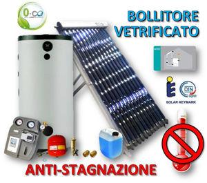Picture of ACS Circolazione Forzata | 15 Tubi Heat-Pipe Anti-stagnazione con Bollitore Vetrificato 200 litri e Stazione a 2 Vie con MTDC