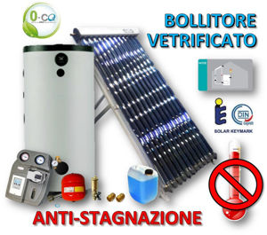 Picture of ACS Circolazione Forzata | 60 Tubi Heat-Pipe Anti-stagnazione con Bollitore Vetrificato 1000 litri e Stazione a 2 Vie con MTDC