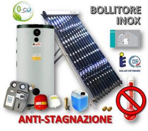 Picture of ACS Circolazione Forzata | 25 Tubi Heat-Pipe Anti-stagnazione con Bollitore INOX 300 litri e Stazione a 2 Vie con MTDC