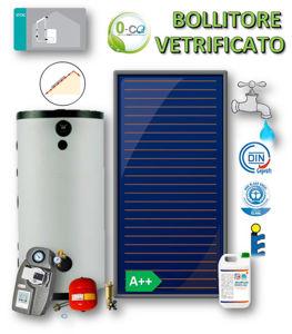 Picture of ACS Circolazione Forzata | No.1 Collettore Piano FKF 240 V con Bollitore Vetrificato 200 litri e Stazione Monovia con STDC