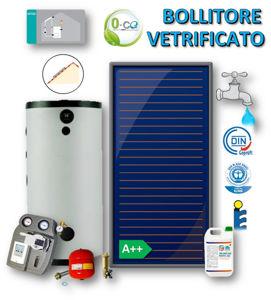 Picture of ACS Circolazione Forzata | No.1 Collettore Piano FKA 240 V con Bollitore Vetrificato 200 litri e Stazione a 2 Vie con MTDC