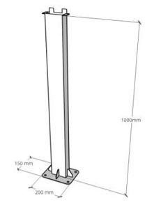 Picture of Zucchetti | Accessori - Supporto opzionale per montaggio 7K da terra (alt. 1m)