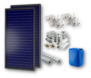 Picture of FKF 200 V   Kit 1 Collettore Solare  + Telaio per Falda con Tegole + Raccordi + 20 litri Antigelo