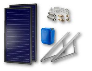 Picture of FKF 200 V | Kit 1 Collettore Solare  + Telaio per Tetto Piano-Terra + Raccordi + 20 litri Antigelo