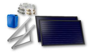 Picture of FKF 200 H   Kit 1 Collettore Solare  + Telaio per Tetto Piano-Terra + Raccordi + 20 litri Antigelo