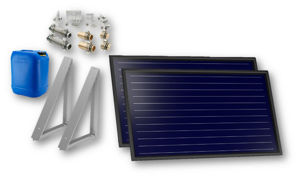 Picture of FKF 200 H   Kit 4 Collettori Solari + Consolle 45° a Parete + Raccordi + 20 litri Antigelo